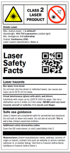Laser safety class 2.