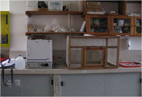 Ett mycket enkelt bordsdragskåp, utan drag (!). Foto: Beate Hillmann, SLU.