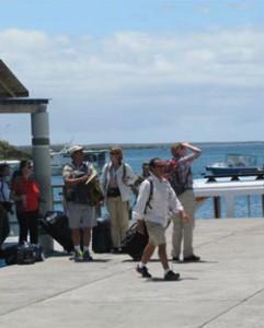 Kajen på ön Santa Cruz, Galapagos.