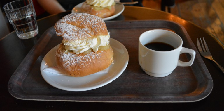 Typical swedish fika at Ofvandahls in Uppsala. Picture by Hernán Capador