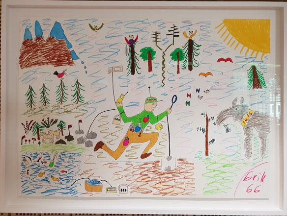 En konstnärlig tolkning av fortlöpande miljöanalys. Illustration Erik Walfridsson