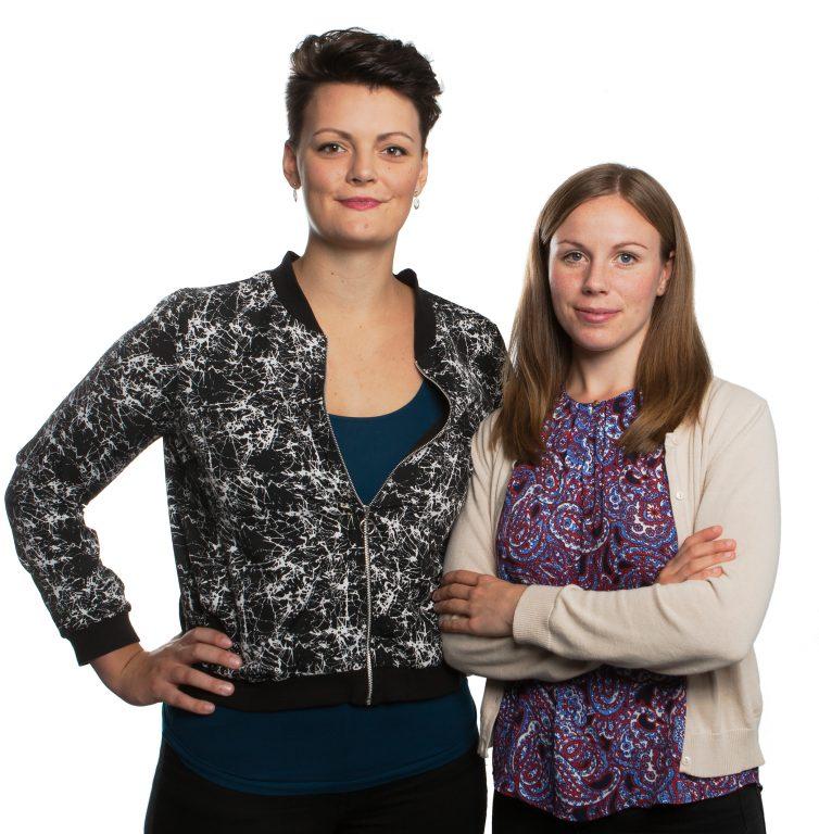 Isabella Hallberg Sramek och Karolina Ottosson, ordförande respektive vice ordförande för SLUSS (SLU:s samlade studentkårer) vid SLU.